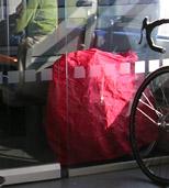 Faltrad in der Bahn - gefaltet und 'verhüllt' kein Problem! (Bild 2)
